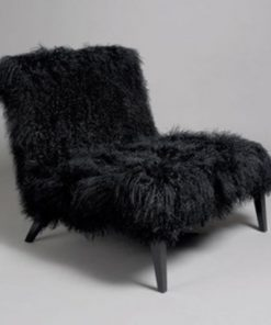 Synthetic fur chair