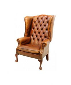 One seater leather sofa chair