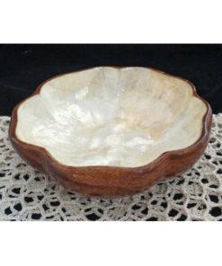 Wooden capiz bowl