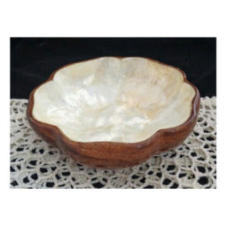 Wooden capiz bowl