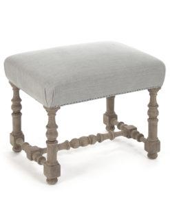 Wooden fabric stool