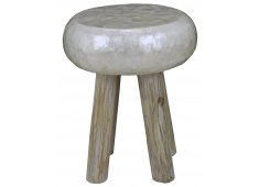 Wooden capiz stool