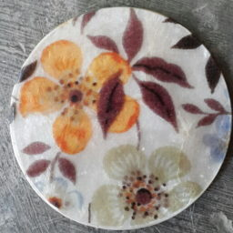 Seashell capiz coaster