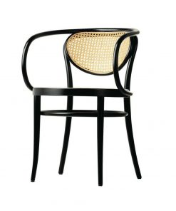 Wooden rattan arm chair