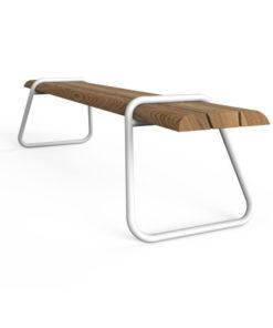 iron wood garden bench