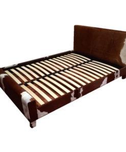Cowhide bed frame