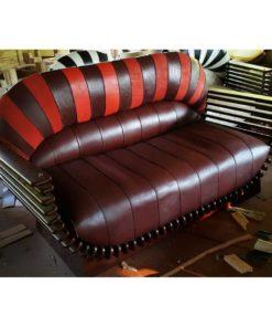 Cow leather sofa