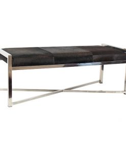 Cow hide bench