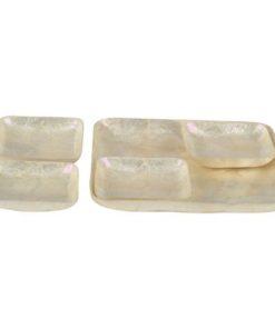Seashell capiz tray set