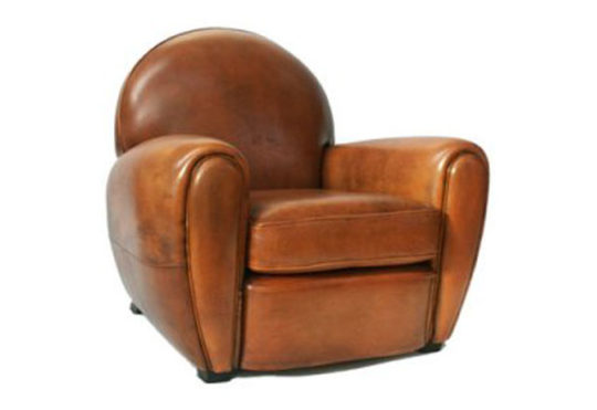 Cow leather sofa chair