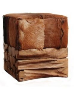 Goat hide stool