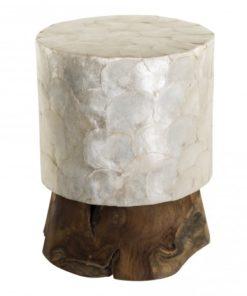 Wooden capiz stool