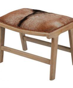 Goat hide bench