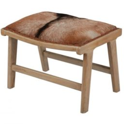 Goat hide bench