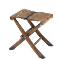 Goat hide folding chair