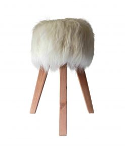 Synthetic fur stool