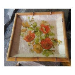 Seashell capiz tray