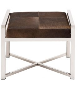 Stainless steel cowhide stool