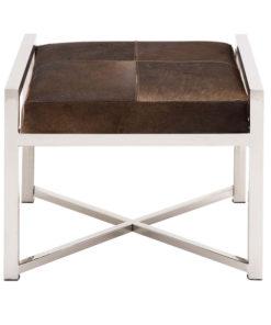 Stainless steel cowhide stool