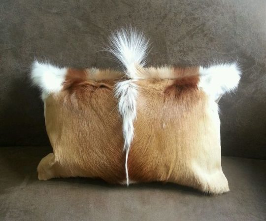 Goat hide pillow