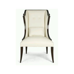 Wooden cow leather chair