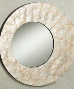 Seashell capiz mirror