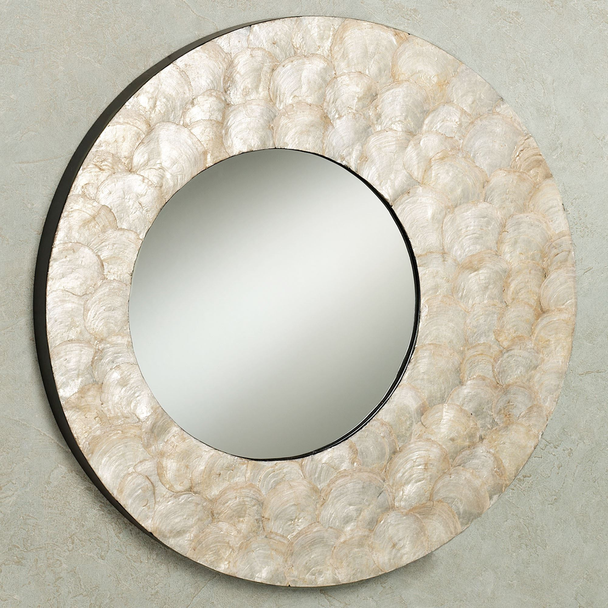 Seashell capiz mirror