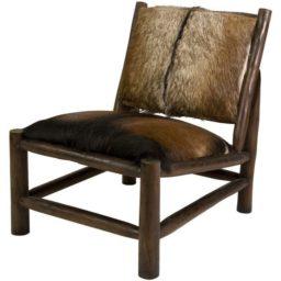 Goat hide chair