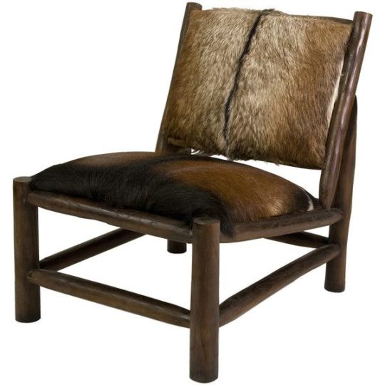 Goat hide chair