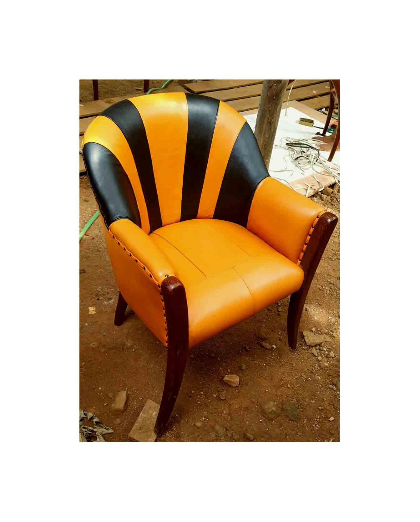 Peachy Surya Java Furnindo Cv Palmwood Cow Leather Gondo Chair Alphanode Cool Chair Designs And Ideas Alphanodeonline