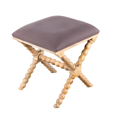 Wooden fabric stool