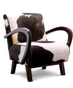 Cowhide arm chair