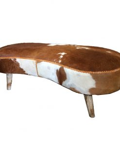 Cowhide sofa bench