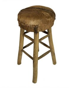 Goat hide bar stool