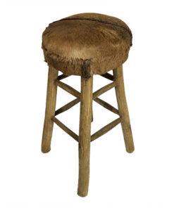 Goat hide bar stool
