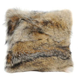 Rabbit hide pillow