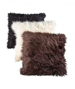 Synthetic fur pillow