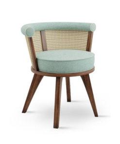 wooden rattan sofa chair