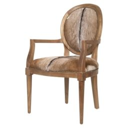 Goat hide French arm chair