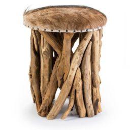 Goat hide stool