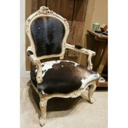 Goat and cowhide French chair