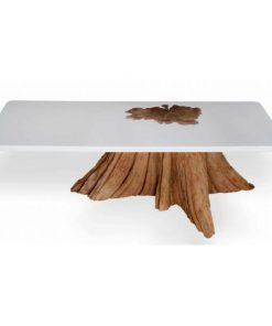 Resin root coffee table