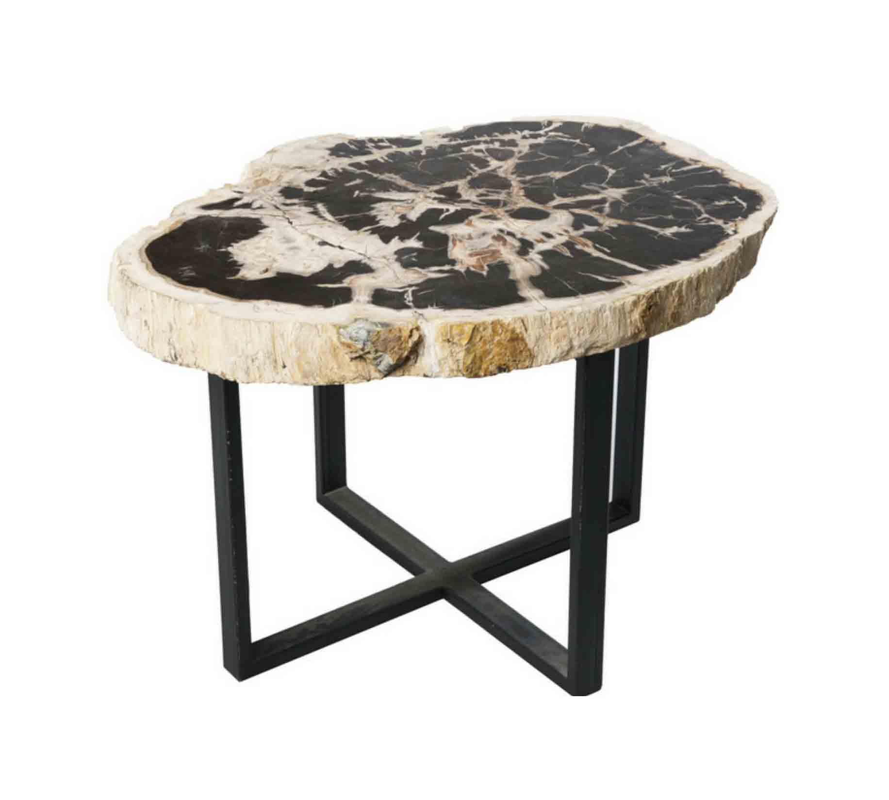 Petrified Wood Iron Coffee Table Surya Java Furnindo Cv
