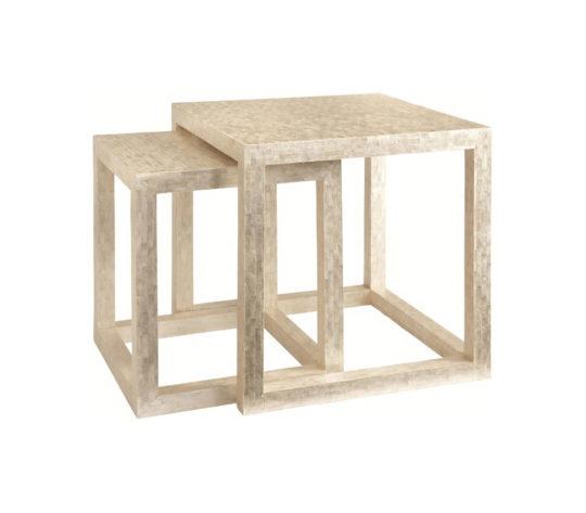Seashell capiz table