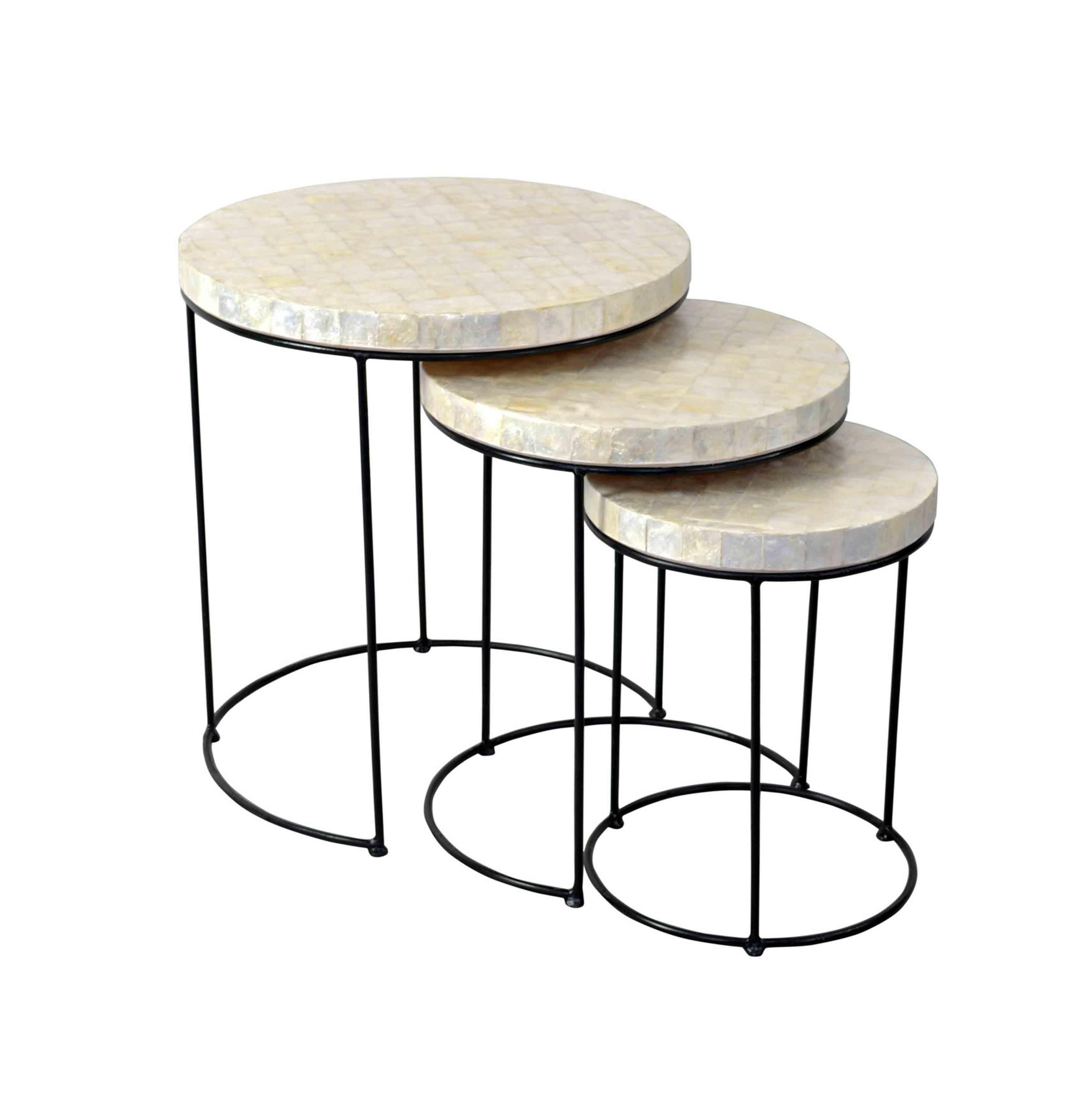 Capiz round table