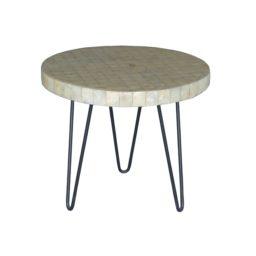 Capiz side table