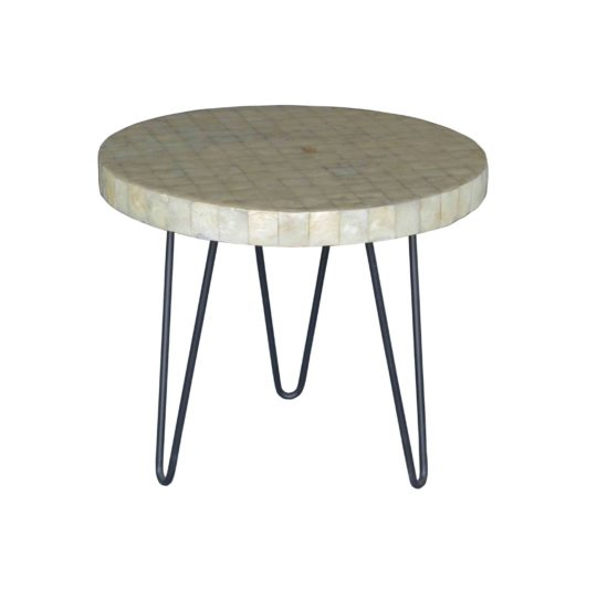 Capiz side table