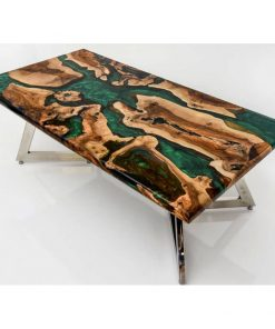 Resin wood coffee table