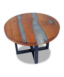 Resin wood round coffee table