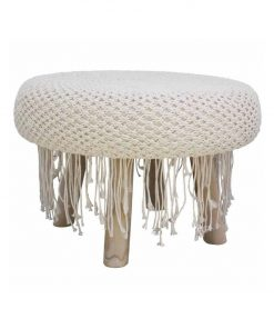 shagged macrame stool